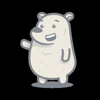 Bear messages sticker-0