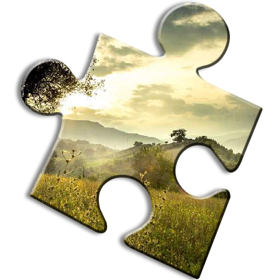 Landscape Jigsaw Puzzles messages sticker-2