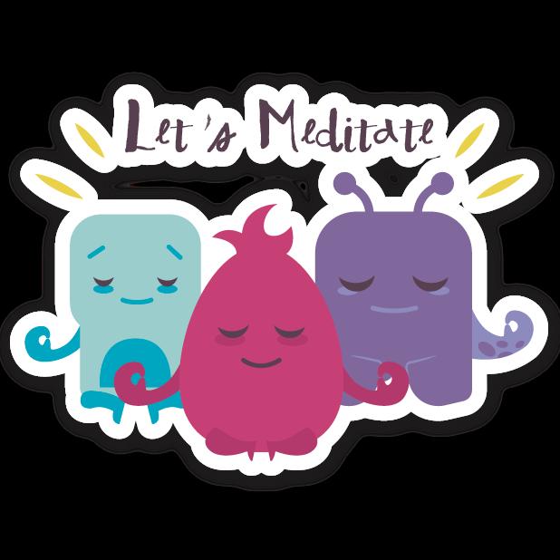 Welzen: meditation mindfulness messages sticker-8