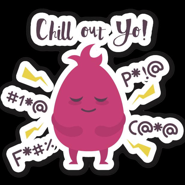 Welzen: meditation mindfulness messages sticker-3