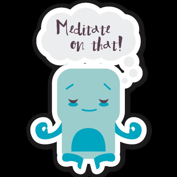 Welzen: meditation mindfulness messages sticker-9