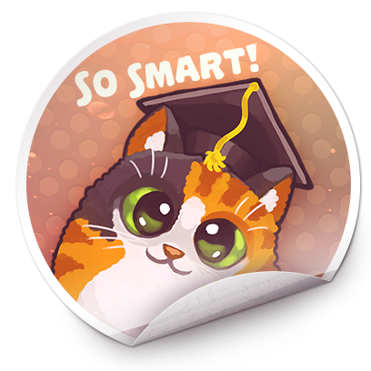 Catomic Match 3: Space Cats and Atomic Owls Puzzle messages sticker-6