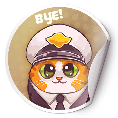 Catomic Match 3: Space Cats and Atomic Owls Puzzle messages sticker-1