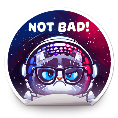 Catomic Match 3: Space Cats and Atomic Owls Puzzle messages sticker-5
