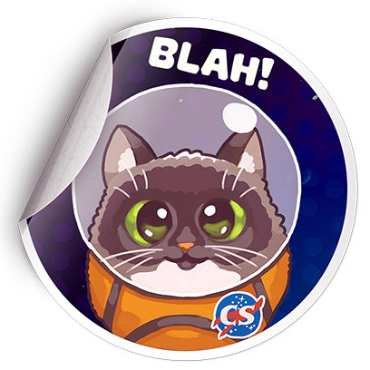 Catomic Match 3: Space Cats and Atomic Owls Puzzle messages sticker-0