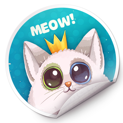 Catomic Match 3: Cats in Space messages sticker-3