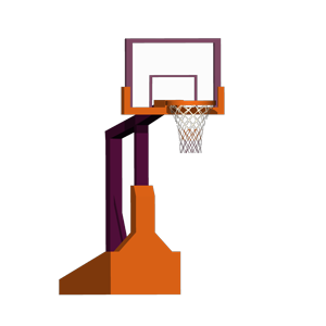 Blocky Basketball - Endless Arcade Dunker messages sticker-0