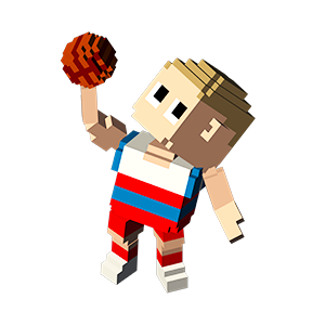 Blocky Basketball - Endless Arcade Dunker messages sticker-11