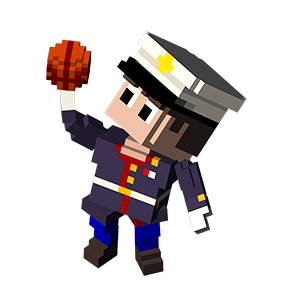 Blocky Basketball - Endless Arcade Dunker messages sticker-2