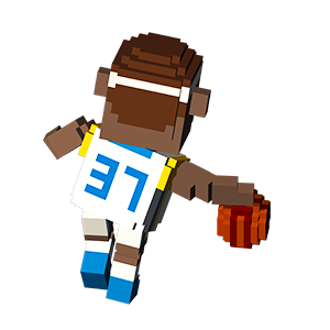 Blocky Basketball - Endless Arcade Dunker messages sticker-10