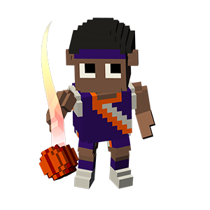 Blocky Basketball - Endless Arcade Dunker messages sticker-9