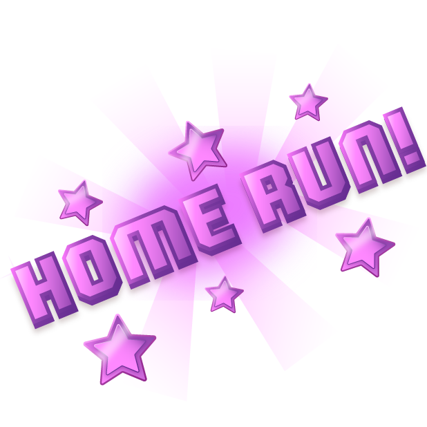 Blocky Baseball: Home Run Hero messages sticker-3