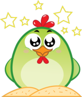 Chicken Emoji messages sticker-7