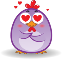 Chicken Emoji messages sticker-10