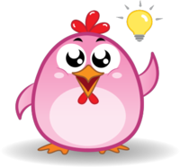 Chicken Emoji messages sticker-11