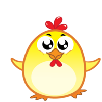 Chicken Emoji messages sticker-0