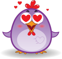 Chicken Emoji messages sticker-9