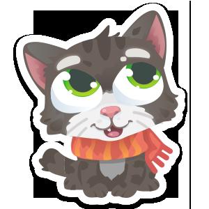 Wordycat messages sticker-1