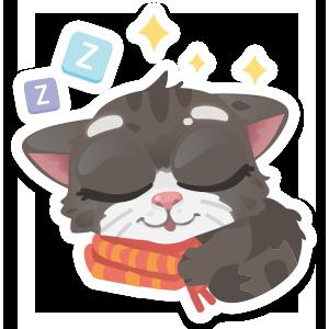 Wordycat messages sticker-4