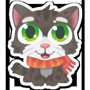 Wordycat messages sticker-0