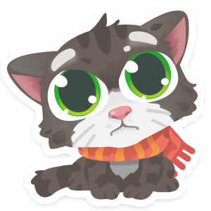 Wordycat messages sticker-2