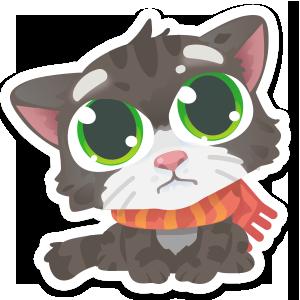 Wordycat messages sticker-9