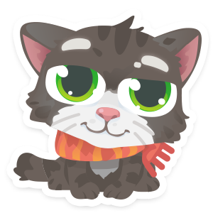 Wordycat messages sticker-7