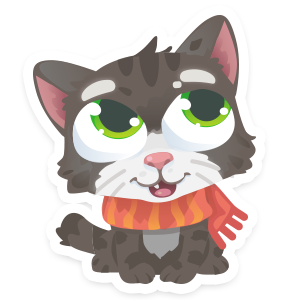 Wordycat messages sticker-1