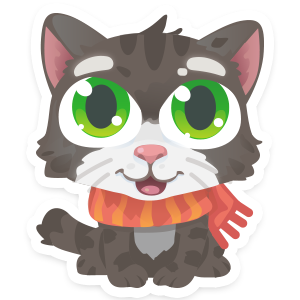 Wordycat messages sticker-0