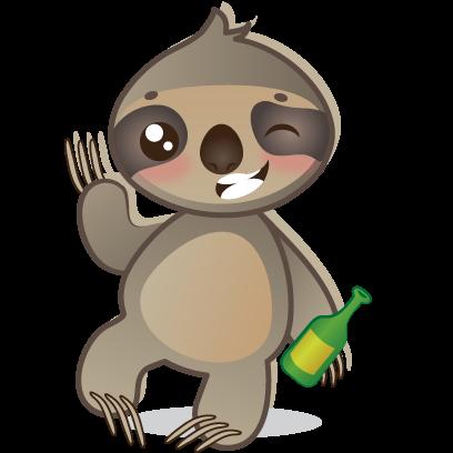 Sloth Emoji messages sticker-8