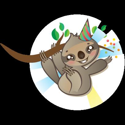 Sloth Emoji messages sticker-2