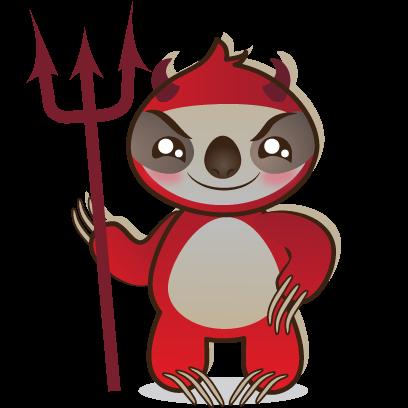 Sloth Emoji messages sticker-7