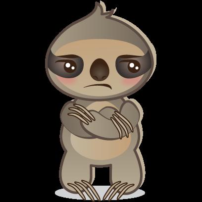 Sloth Emoji messages sticker-5