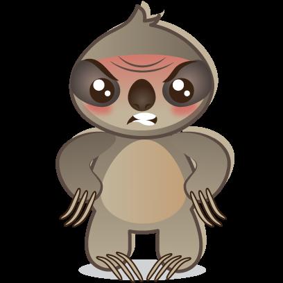 Sloth Emoji messages sticker-0