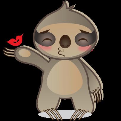 Sloth Emoji messages sticker-1