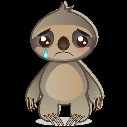 Sloth Emoji messages sticker-6