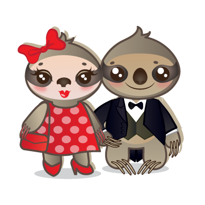 Sloth Emoji messages sticker-4