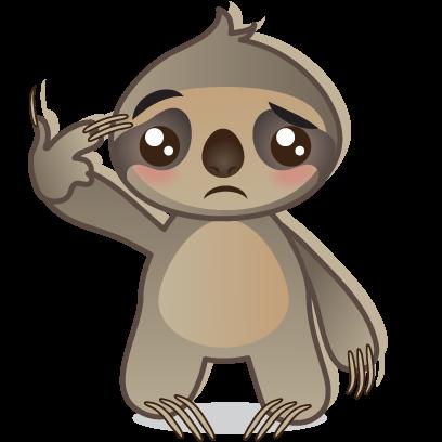 Sloth Emoji messages sticker-11