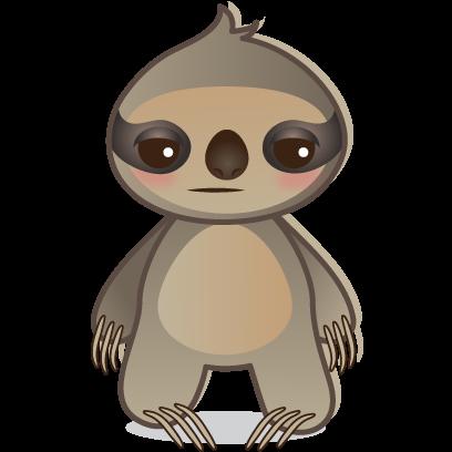 Sloth Emoji messages sticker-9