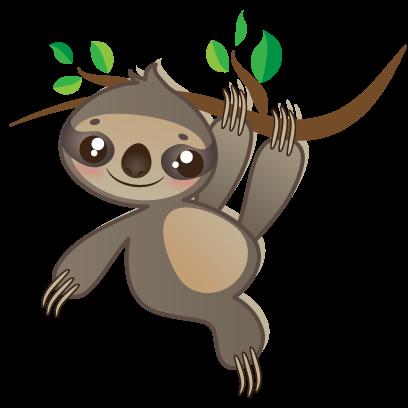 Sloth Emoji messages sticker-3