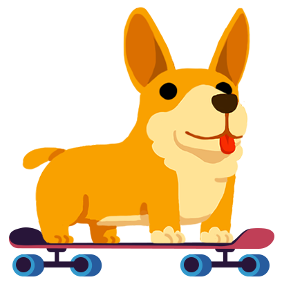 Corgi Pro Skater messages sticker-0