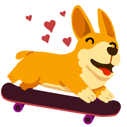 Corgi Pro Skater messages sticker-6