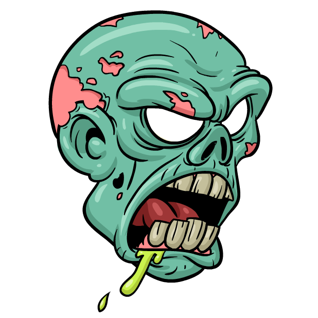 Zombie stickers messages sticker 4