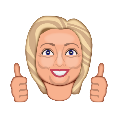 Hillarymoji messages sticker-0