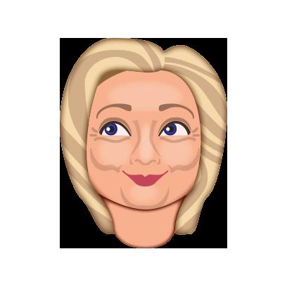 Hillarymoji messages sticker-4