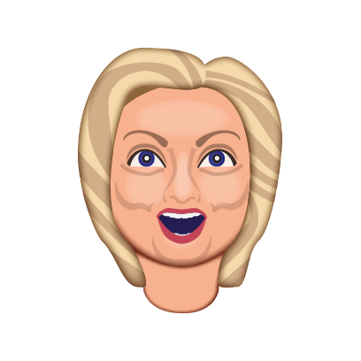 Hillarymoji messages sticker-3