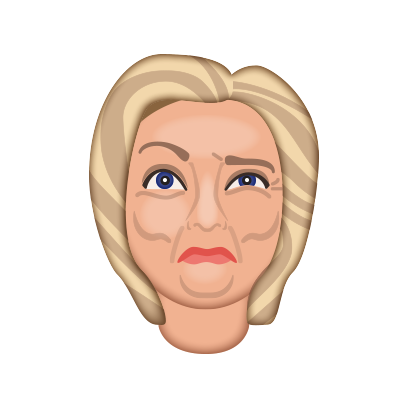 Hillarymoji messages sticker-8