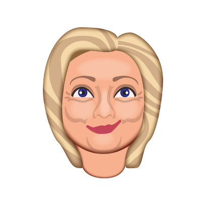 Hillarymoji messages sticker-6