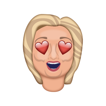 Hillarymoji messages sticker-1