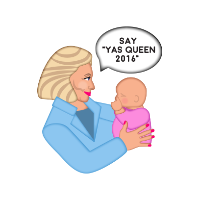 Hillarymoji messages sticker-9